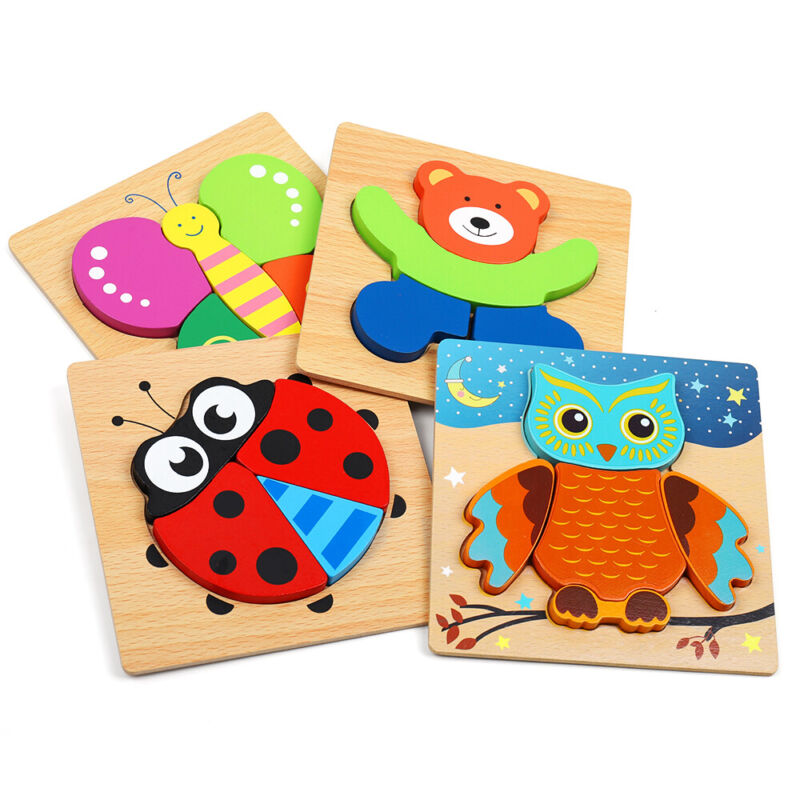 Wooden Animal Jigsaw Puzzles for Toddlers Kids,Educational Toys Gifts