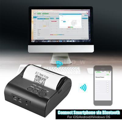 Mini 80mm Bluetooth Ticket Thermal Printer Receipt Pos Printing For Ios Win X2v7