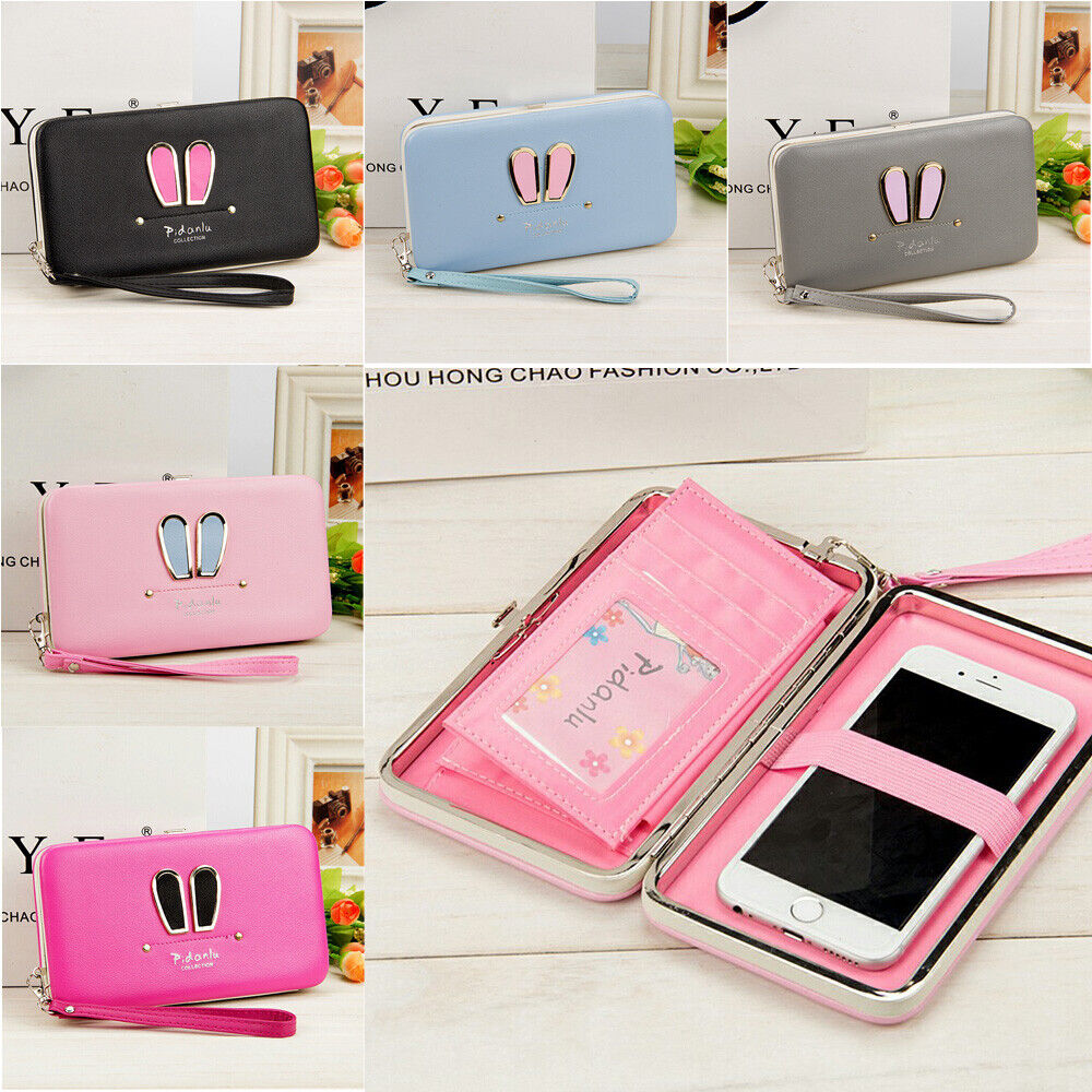 Women Leather Wallet Purse Long Card Holder Clutch Box Phone Party Handbag US Clothing, Shoes & Accessories