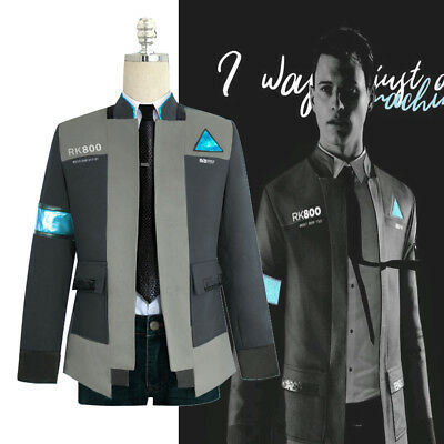 Detroit: Become Human RK800 Connor Cosplay Costume Complete Outfit Jacket Coat - Motown Costume