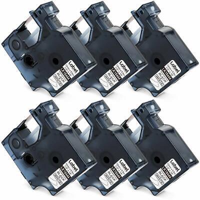 6pk Compatible Dymo Rhino Industrial 18444 Black On White Label Tape Rhino 5200
