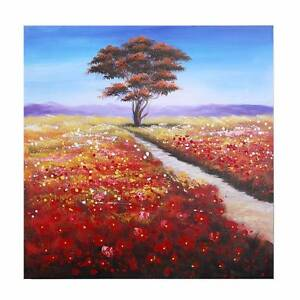 Meadow Plain Hand Painted Wall Art - Hanging Framed Canvas Sydney City Inner Sydney Preview
