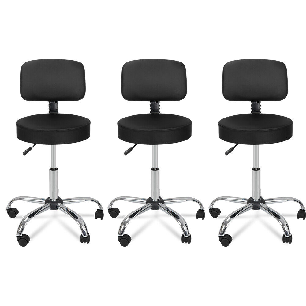 3X Designed Adjustable Salon Stool w/Backrest Beauty Salon Swivel Massage Chair Health & Beauty