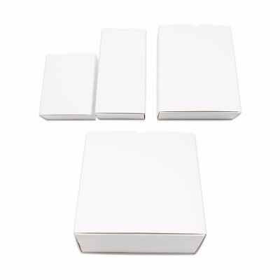 White Kraft Paper Drawer Box Recyclable Cardboard Gift Wedding Party Favor Pack