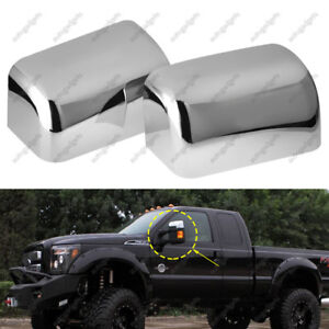 TOP HALF Mirror Cover Fit 08-16 Ford Super Duty F250 F350 Triple Chrome Plated