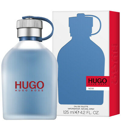 HUGO BOSS HUGO NOW FOR MEN 125ML EAU DE TOILETTE SPRAY BRAND NEW & SEALED