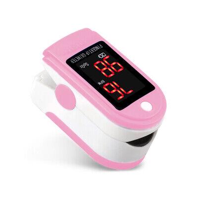 Fda Finger Pulse Oximeter Blood Oxygen Sensor O2 Spo2 Monitor Heart Rate Pink