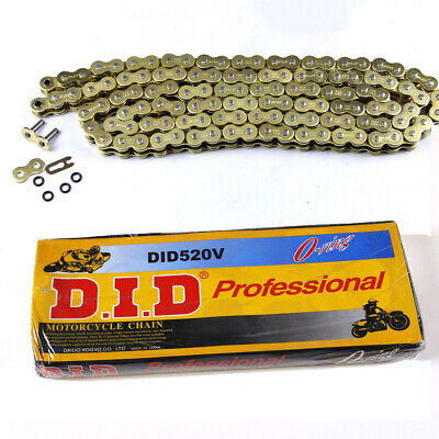 Gold 520x120 O-Ring Drive Chain ATV Motorcycle MX 520 Pitch 120 Links