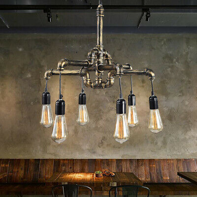 Ceiling Hanging Decorations (Vintage Water pipe Industrial Hanging Decor Ceiling Lamp Shade Pendant Light)