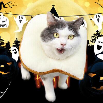 Creative Toast Pet Headgear Costume Bread Slice Collar for Pet Photo Prop Party@