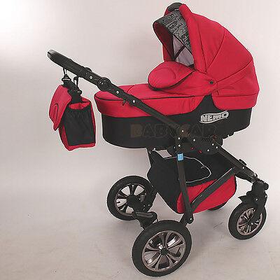 New Baby Travel System - SWIVEL WHEEL  PRAM - PUSHCHAIR - CAR SEAT 3in1