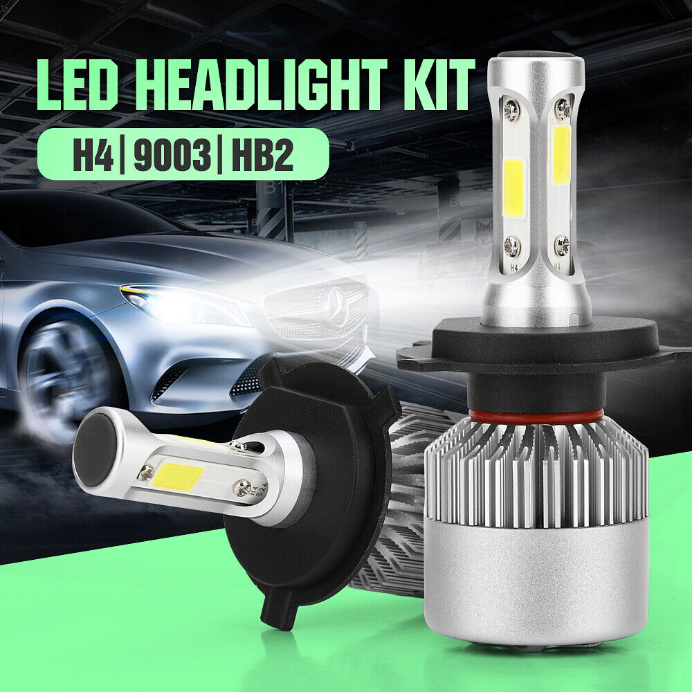H4 HB2 9003 Hi//Lo Beam Car COB LED HeadLight Bulb White 6000K 1500W 225000LM US