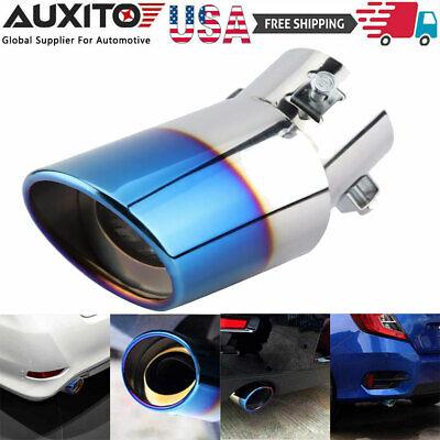 Burnt Blue Car Muffler Tip Exhaust Pipe Tail Universal Adjustable For Pickup EAJ