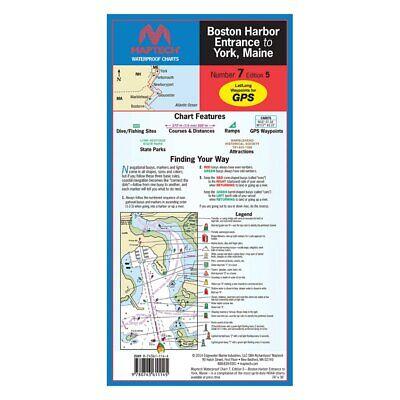 MASSACHUSETTS BAY AND BOSTON HARBOR. MAPTECH WATERPROOF CHART **BRAND - Maptech Waterproof Chart Book