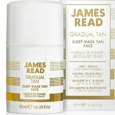 James Read Gradual Tan Bronzer Light Medium Moisturising Sleep Mask Face 50ml