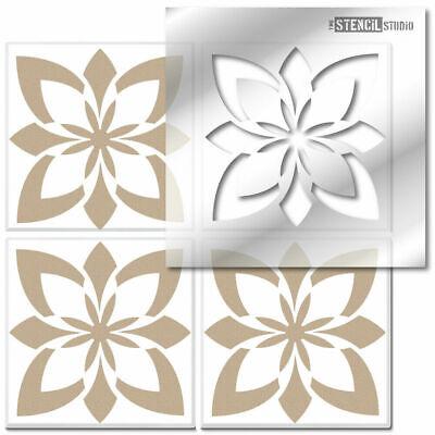 Miserden Reusable Tile STENCIL. Paint Floors & Walls. Revamp old tiles DIY 10619