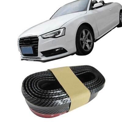 Für viele Fahrzeuge Frontspoiler Gummilippe Spoiler Lippe Gummi Flexibel Carbon