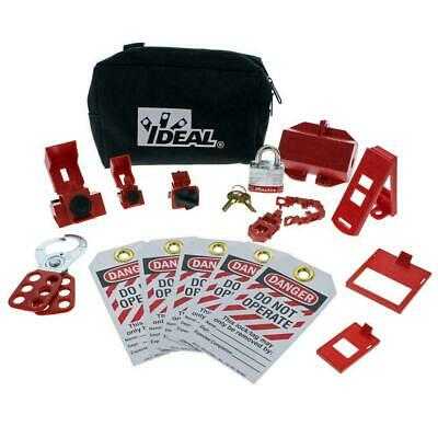 Ideal Electrical 44-970 Lockouttagout Kit New Out Of Box In Bag