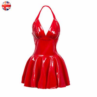 PVC Dress,  Real shiny PVC mini dress, clubwear, Red sexy fits Size M.