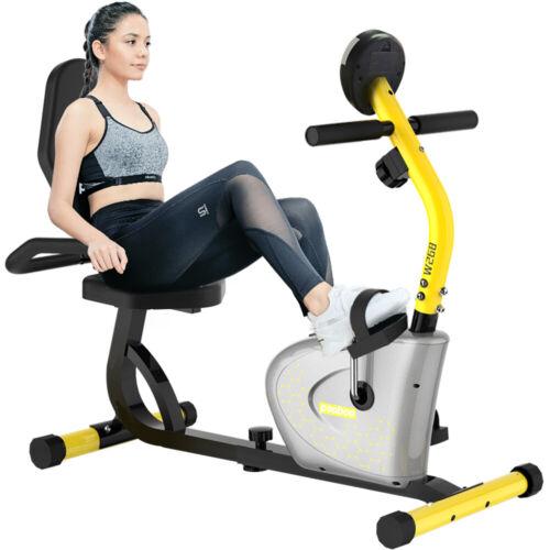 Stationary Recumbent Magnetic Exercise Bike Seated Support Rehabilitation Cycle