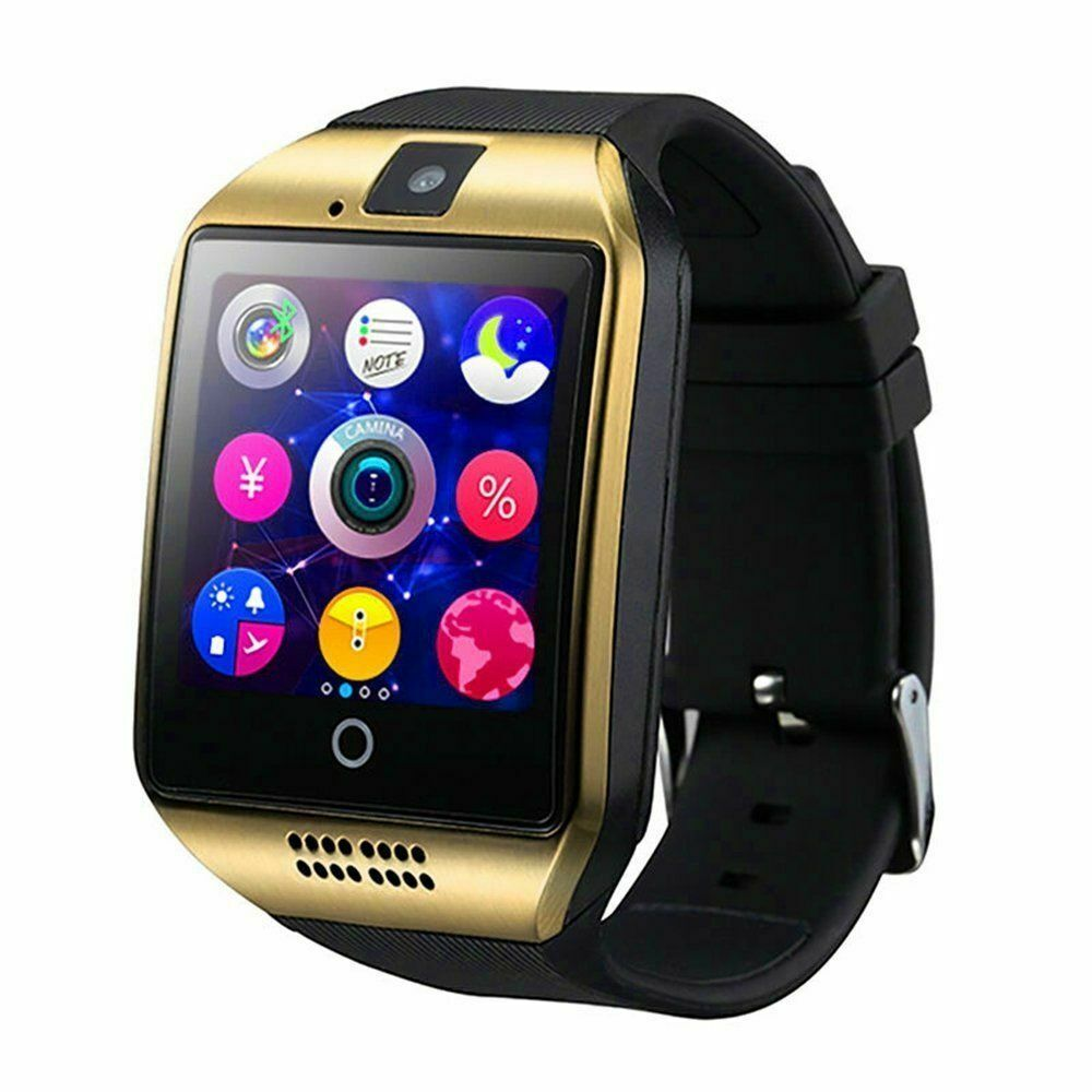 Bluetooth Smart Watch Q18 Smartwatch Support GSM SIM Card GOLD and Black Cell Phones & Accessories