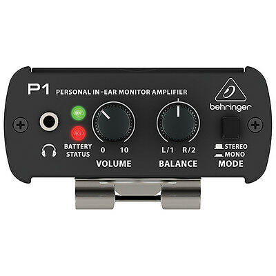 Behringer PowerPlay P1 Personal In-ear Monitor Stereo Mono Headphone Amplifier