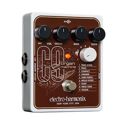 Electro-Harmonix C9 Organ Machine Vintage Tone Guitar/Keyboard Effects Pedal EHX