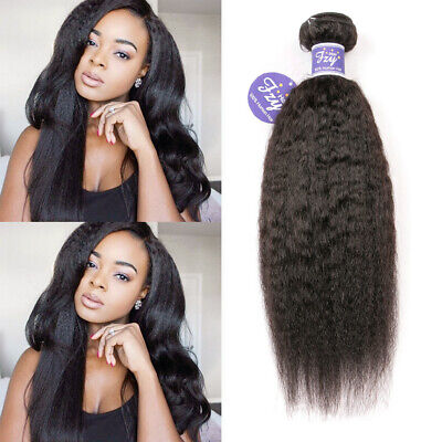1 Bundles 100g Brazilian Virgin Human Extensions Yaki Kinky Straight Hair -