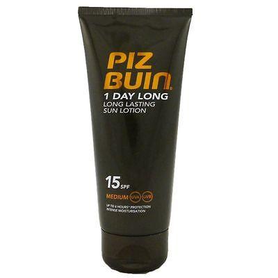 Piz Buin 1 Day Long Sun Lotion SPF 15 mittlerer Schutz 100 ml Sonnenlotion
