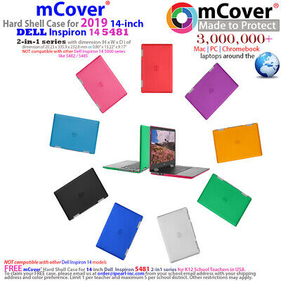 """Used, NEW mCover® Hard Shell Case for 2019 14"""" Dell Inspiron 14 5481 2-in-1 laptop for sale  Shipping to India"""