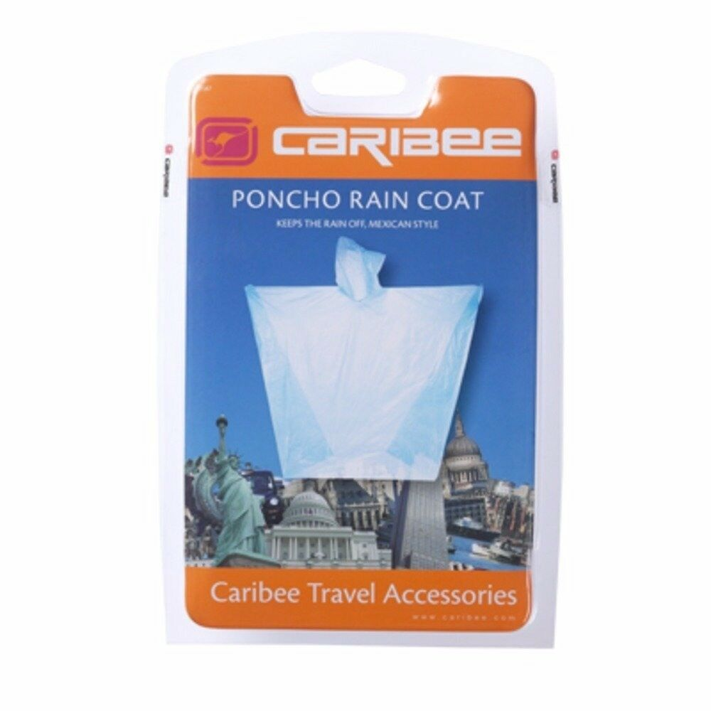 CARIBEE PONCHO RAIN COAT (BLUE) pack of 8