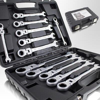 Bituxx 12tlg. Gelenk Ring Maulschlüssel Ratsche Ratschenringschlüssel SET 8-22mm
