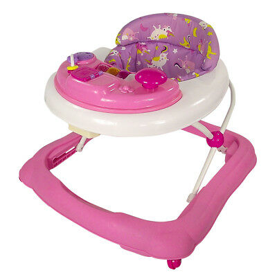 Red Kite Baby Walker Go Round Adjustable Height Jive Electronic Play Tray Pink