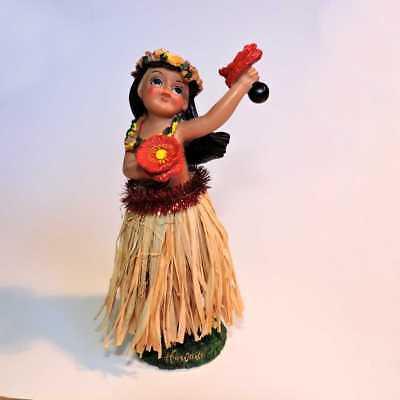 Hawaii Wackelfigur Hula Girl Auto Wackeldackel Dashboard Doll Tänzerin, 16cm NEU