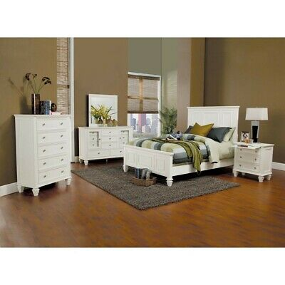 Coasters Furniture Sandy Beach White Panel 6 Piece Bedroom Set ()