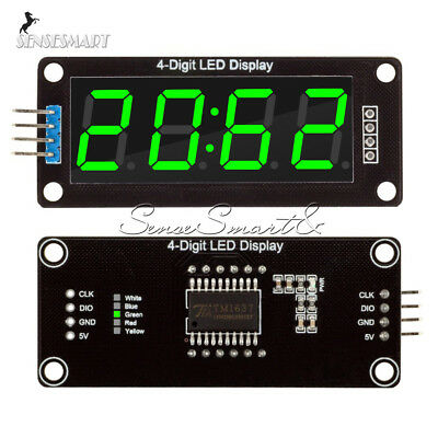 0.56inch Tm1637 4bit Digital Led 7segment Clock Tube Display For Arduino Green