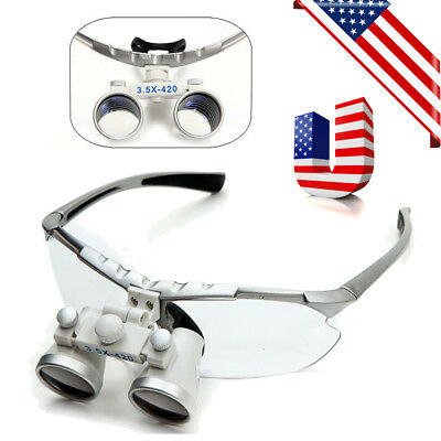 Dental Surgical Medical Binocular Loupes 3.5x 420mm Optical Glass Lens Magnifier