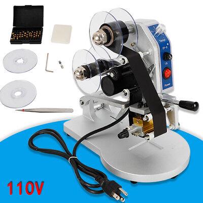 New Manual Thermal Ribbon Date Code Printer Hot Foil Stamping Printer 110v 60hz