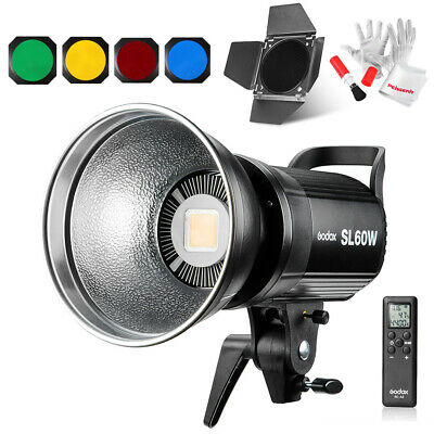 US Godox SL-60W  5600K Bowens Mount Led Continuous Video Light With Barn Door