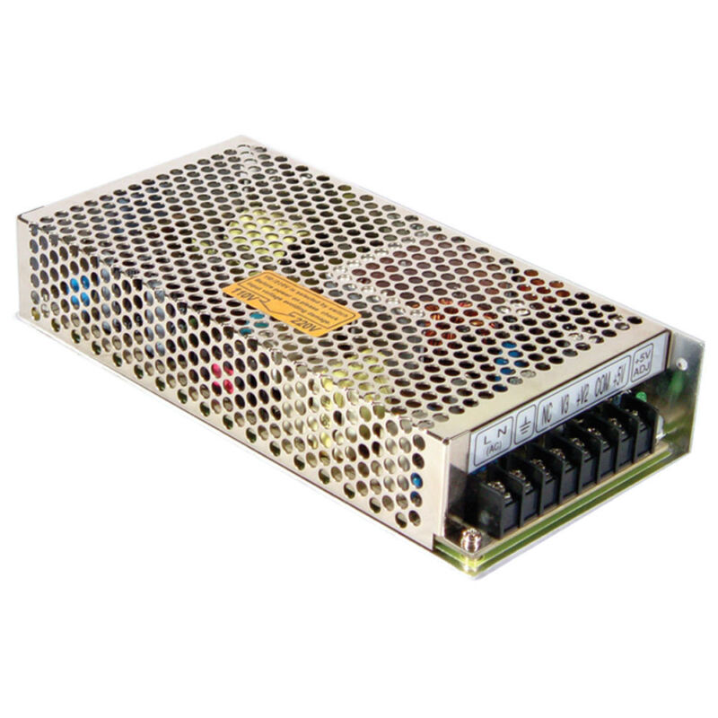 Mean Well RT-125C AC to DC Power Supply Triple Output 5 Volt 15 Volt 15 Volt 15