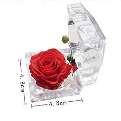 Gifts DIY Wedding Souvenir Crystal Ring Box Valentine's Day Rose Flower
