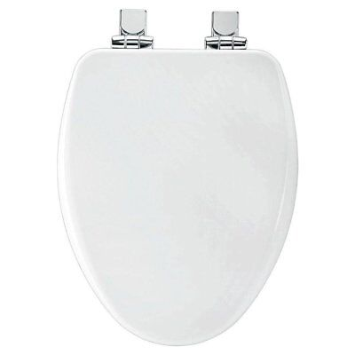 Bemis Indisposed Close Elongated Closed Front Toilet Seat in White, 19170CHSL-000 New
