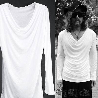 ByTheR Basic Slim Urban Neck Line One Size Shirring Shirt White UK N