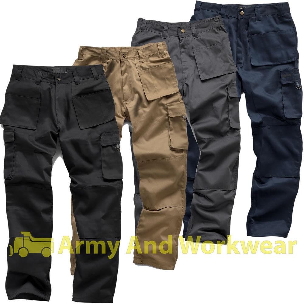 Pro Work Trouser Multi Tool & Knee Pockets Tough Pants Tripl