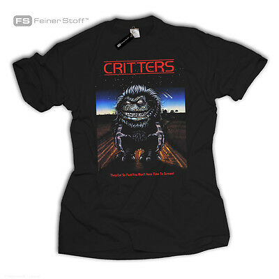 Critters Fan T-Shirt Fun Horror Kult Retro Movie Gremlins Zombie 80s Nerd