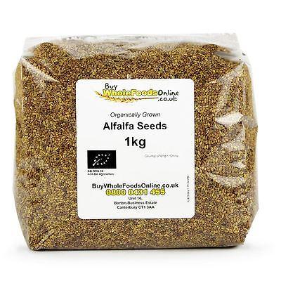 Organic Alfalfa Seeds 1kg