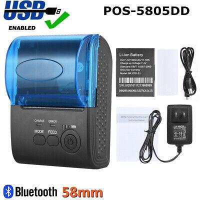 Mini 58mm Wireless Usb Thermal Pos-5805dd Pos Printer Receipt Bill Ticket Q9b3