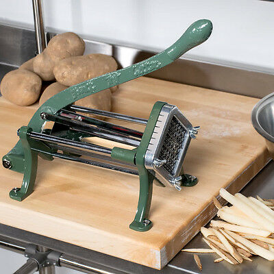 38 Green Countertop Cast Iron French Fry Cutter Potato Cutter Slicer