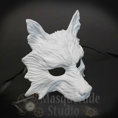 Diy Wolf Mask (Wolf Animal Spirit Wall Decoration Costume Party Masquerade Mask DIY)