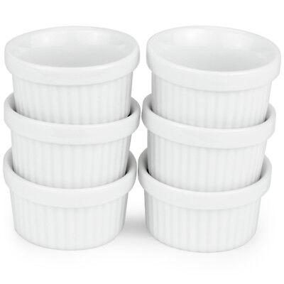6 Mini Ramekins, 1 Oz Porcelain Souffle Dish Sauce & Mini Dessert Cups Oven Safe